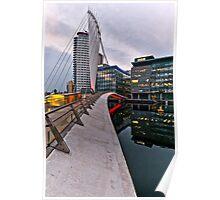 Bridge to BBC, Media city, Salford Quays Poster