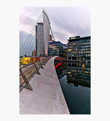Bridge to BBC, Media city, Salford Quays Photographic Print