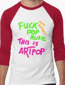 FUCK POP MUSIC Men's Baseball ¾ T-Shirt