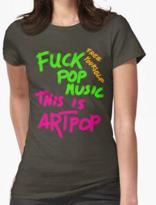 FUCK POP MUSIC Womens Fitted T-Shirt