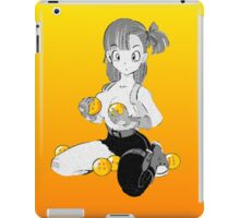 Bulma with dragon balls iPad Case/Skin