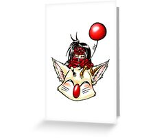 Vincent and Moogle Greeting Card