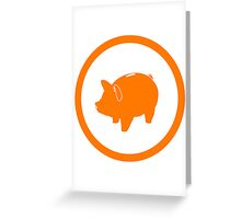 pictopig Greeting Card