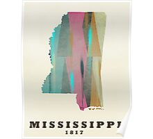 Mississippi state map Poster