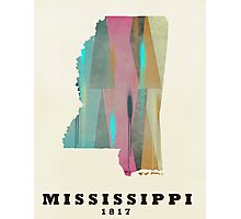 Mississippi state map Photographic Print