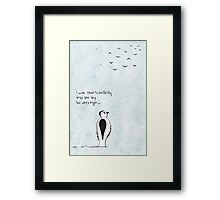 I wish that I could fly Framed Print