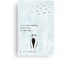 I wish that I could fly Canvas Print