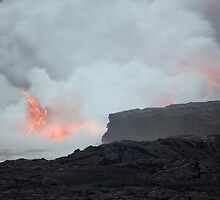 Kalapana Lava Erruption by photoeverywhere
