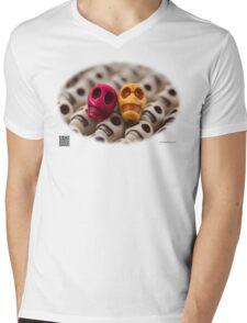 Maroon And Gold Mens V-Neck T-Shirt