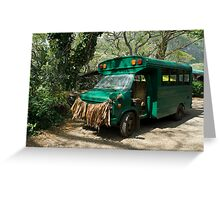 Grass skirted bus Greeting Card