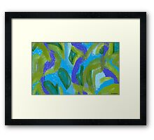 Sea Foam Ocean Currents, with Seaweed Framed Print