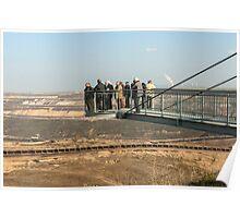 The Skywalk viewing platform at Garzweiler II lignite mine near Cologne, NRW, Germany. Poster