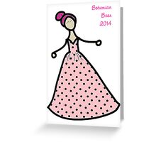 Pink Dotted Gown Greeting Card