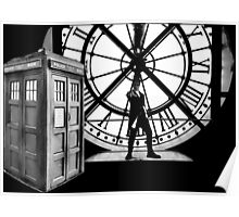 Police Box Clock Musée d'Orsay Poster