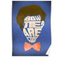 Bow Ties Are Cool - Blue Poster