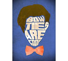Bow Ties Are Cool - Blue Photographic Print