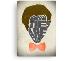 Bow Ties Are Cool - White Canvas Print