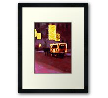 Christmas Carriage Ride In Vienna Framed Print