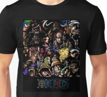 ONE PIECE all characters (BLACK) Unisex T-Shirt