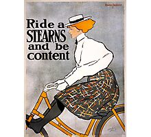 Vintage Stearns Bicycle Advertising Poster Photographic Print