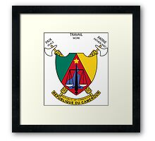 Coat of Arms of Cameroon Framed Print