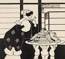 Woman in a Bookshop by Bridgeman Art Library