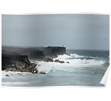 Kalapana rugged oceanscape Poster