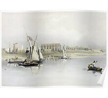 General View of the Ruins of Luxor from the Nile Poster