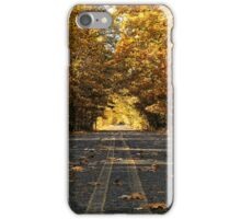 Two Lane Country Road iPhone Case/Skin