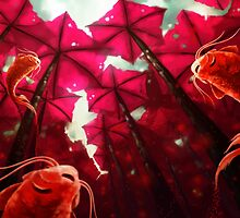 umbrellas´s forest by eduardo berazaluce