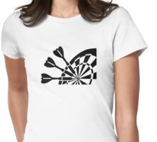 Darts board Womens Fitted T-Shirt