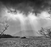 Ullswater, Cumbria Black & White by paulwhittle