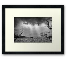 Ullswater, Cumbria Black & White Framed Print