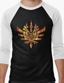 Monster Hunter 4 Logo FIRE Men's Baseball ¾ T-Shirt