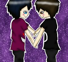 Chibi Danisnotonfire and AmazingPhil by LittlePhilosaur