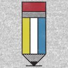 Mondrian's Pencil #2 by BeanePod