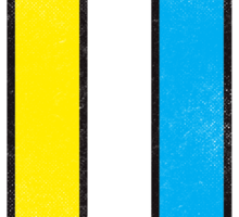 Mondrian's Pencil #2 Sticker