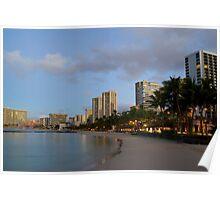 Honolulu Waikiki Sunrise Poster