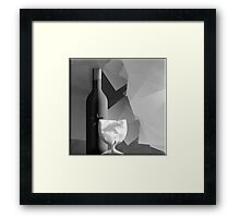 Wine and Glass Framed Print
