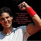 Rafa Nadal raising fist by Dulcina