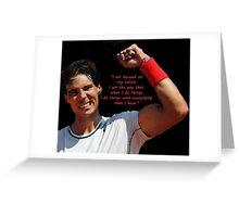 Rafa Nadal raising fist Greeting Card
