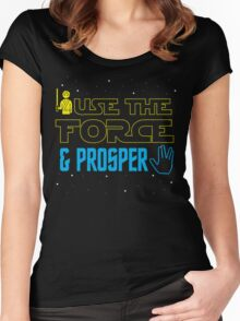 Use The Force & Prosper Women's Fitted Scoop T-Shirt