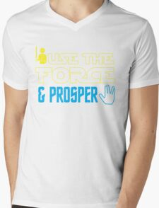 Use The Force & Prosper Mens V-Neck T-Shirt