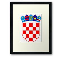 Coat of Arms of Croatia  Framed Print