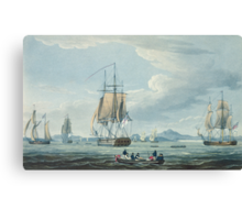 The Prometheus and the Melpomene in the Gulf of Riga to meet the British Squadron Canvas Print