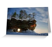 Frozen Keyhole, Apostle Islands,WI Greeting Card