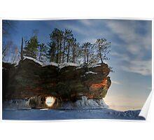 Frozen Keyhole, Apostle Islands,WI Poster