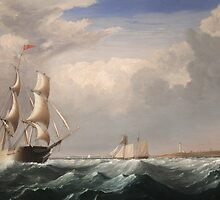 Sailing Ships off the New England Coast by Bridgeman Art Library