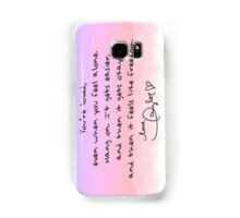 Taylor Swift Quote Samsung Galaxy Case/Skin