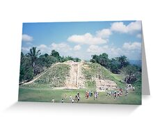 Historic Mayan Pyramid, Belize, Central America Greeting Card